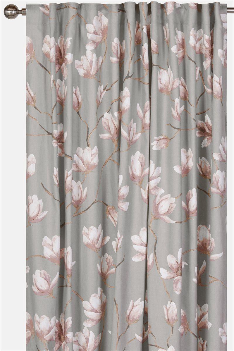 Magnolia kukkakuvioiset verhot 2 kpl/pakkaus