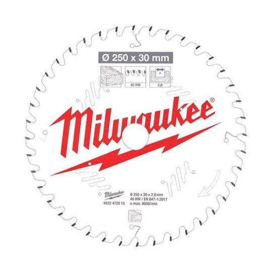 Milwaukee CSB MS W Sahanterä 250x2,8x30 mm, 40T