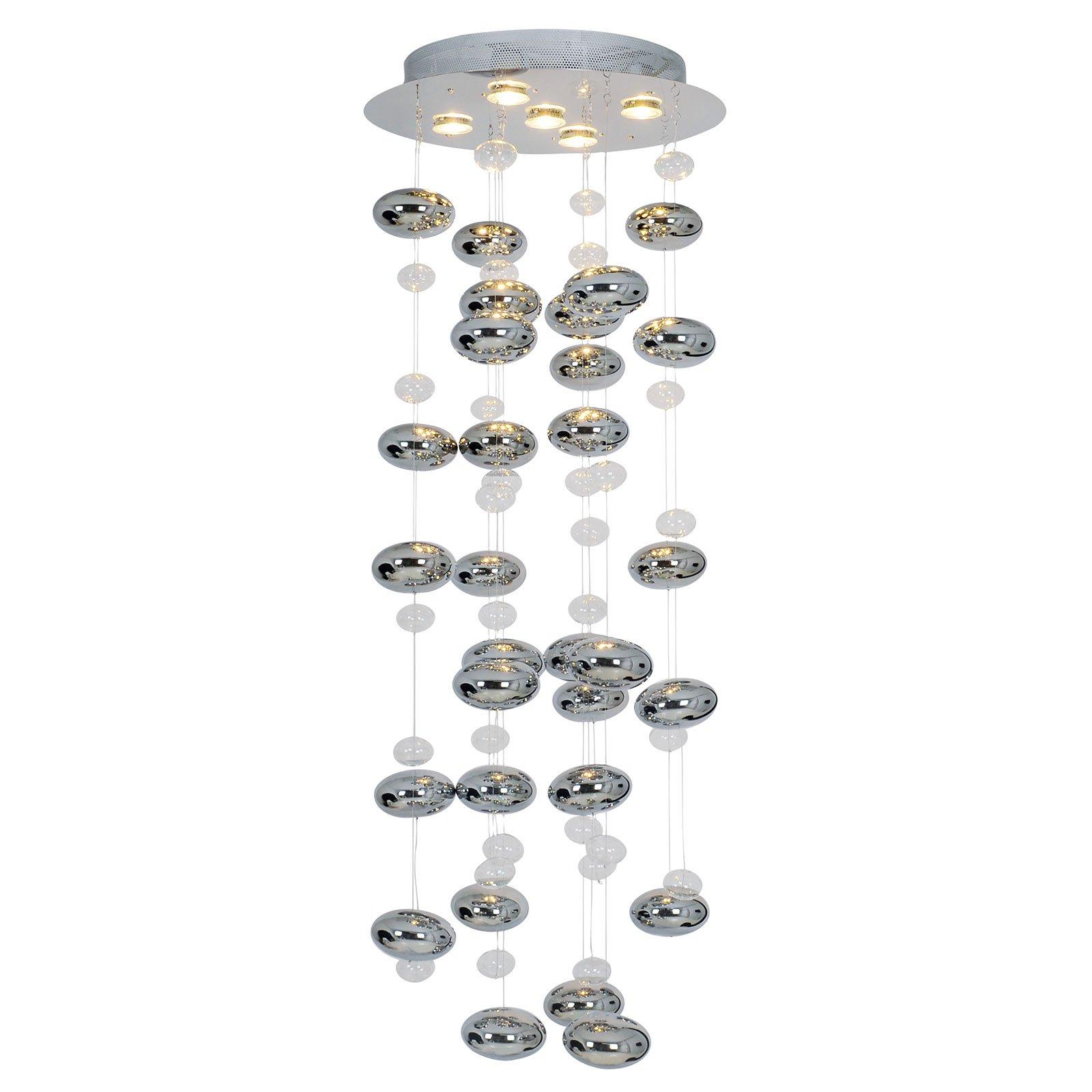 Wakusei hengelampe LED 45 cm krom