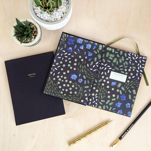 Floral Primordia Cloth Bound Notebook
