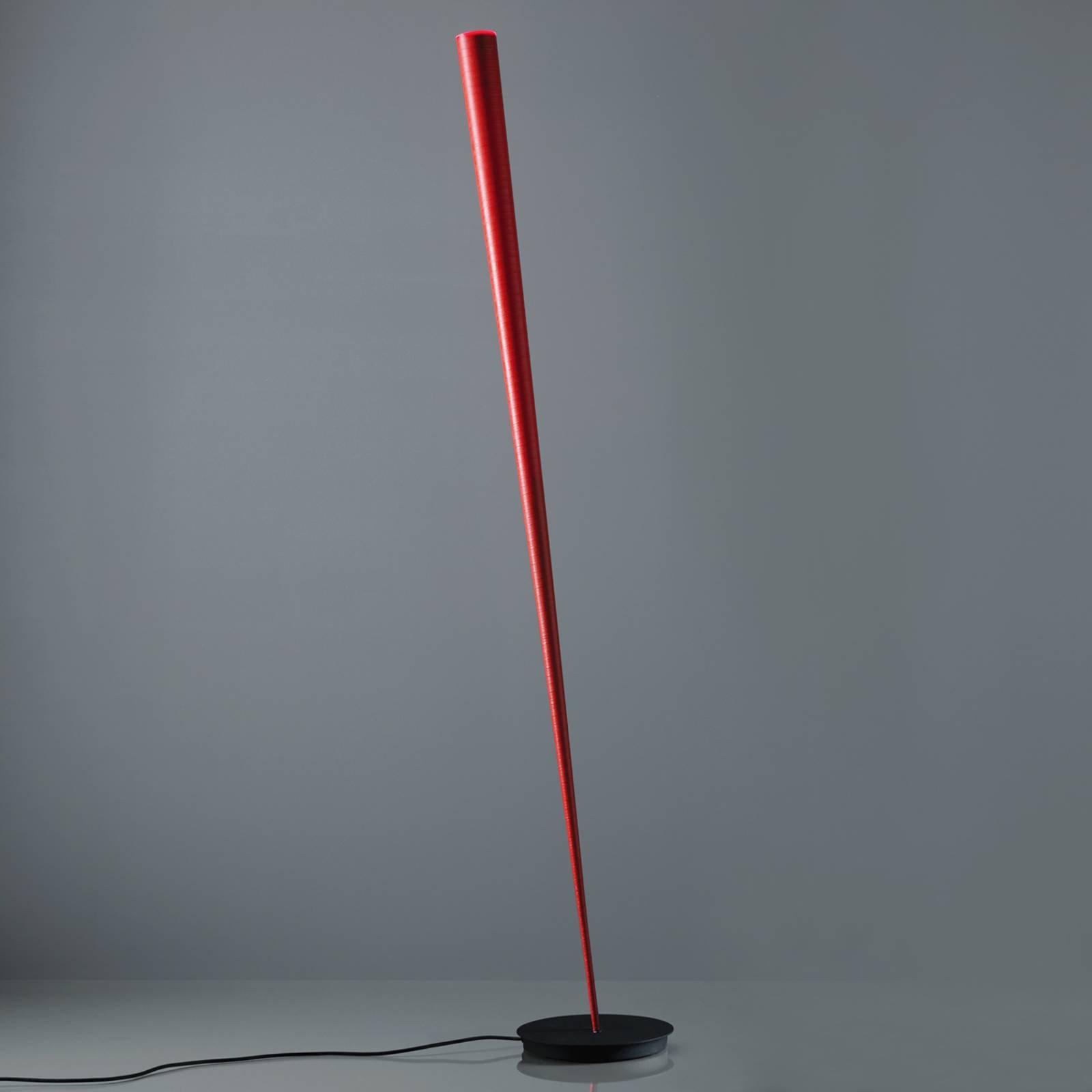 Designer-gulvlampe Drik, rød