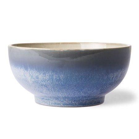 70's Keramikk Salatskål L Blå