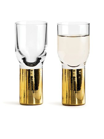 Club Snaps- og shotglass 4 cl Gull 2-ok