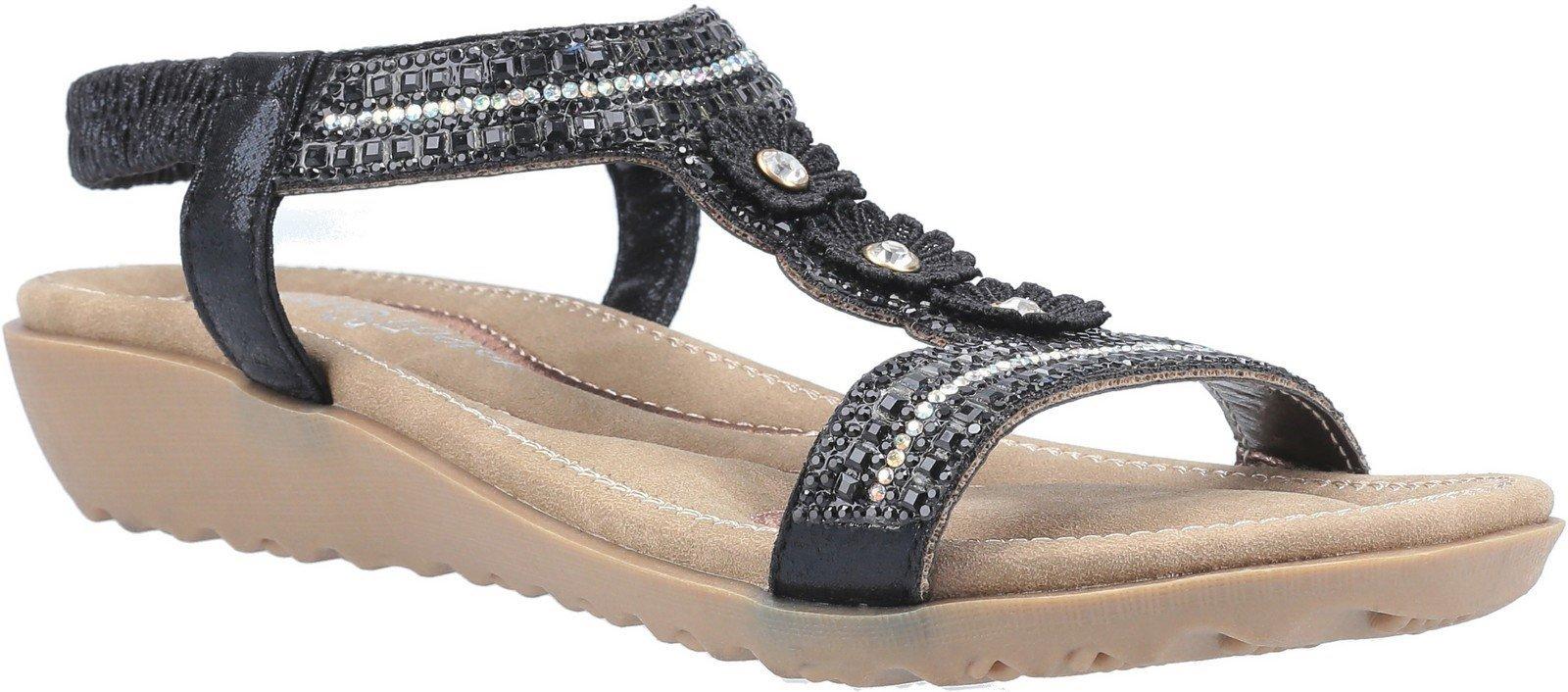 Fleet & Foster Women's Tabitha Slip On Sandal Various Colours 30099 - Black 3