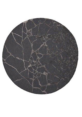 Marmor Teppe Charcoal Ø250 cm