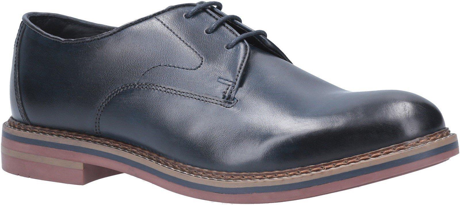 Base London Men's Wayne Burnished Lace Up Shoe Various Colours 29439 - Navy 6