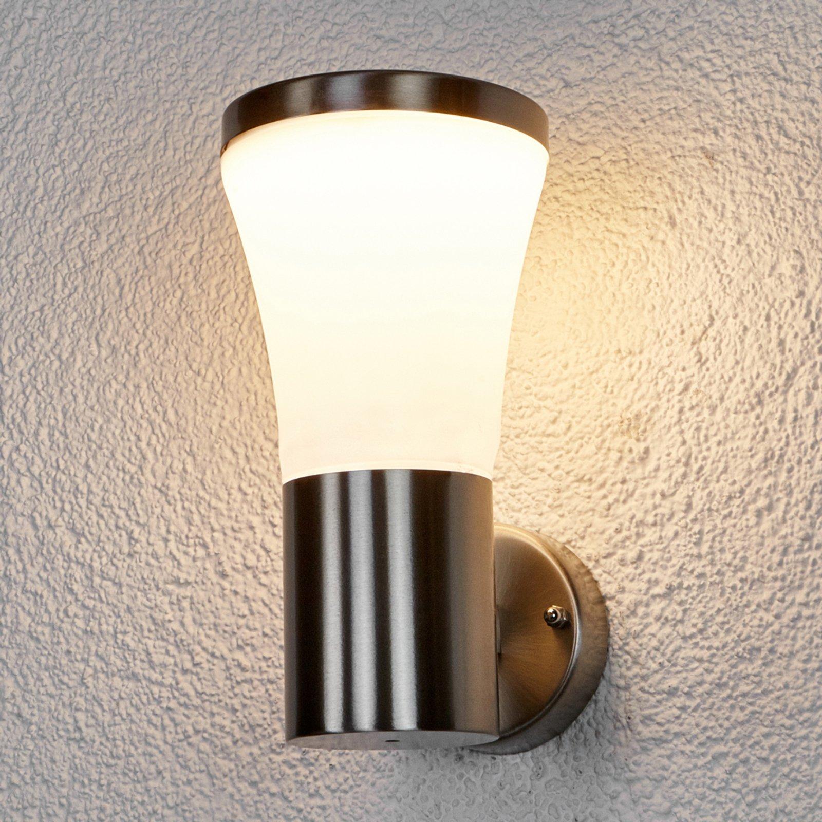 Edelstål utevegglampe Sumea med LED