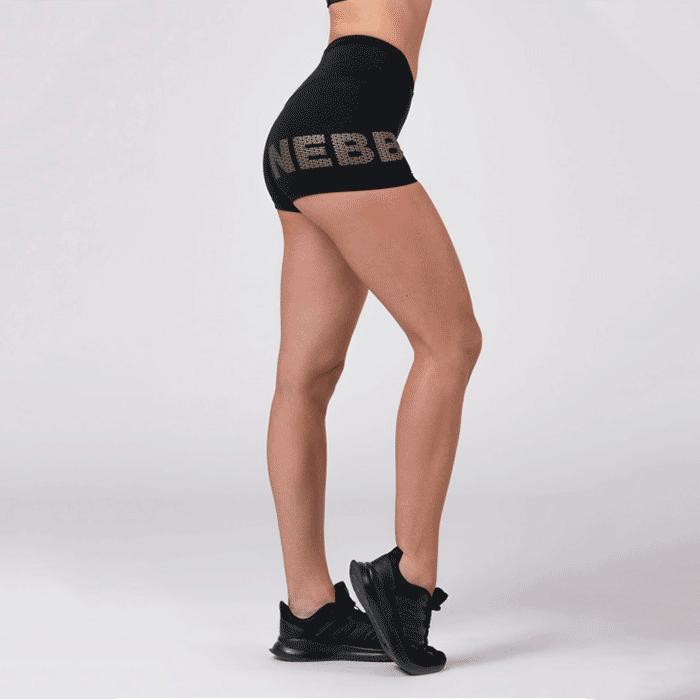 Nebbia Gold Shorts, Black