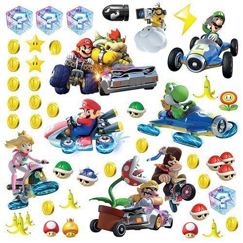 RoomMates Sisustustarrat Nintendo Mario Kart