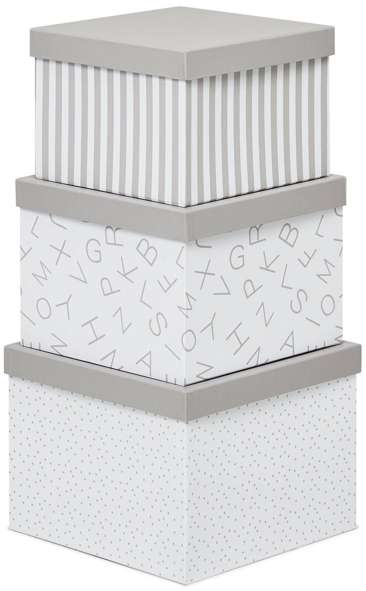 Alice & Fox Säilytyslaatikot 3-pack, Harmaa