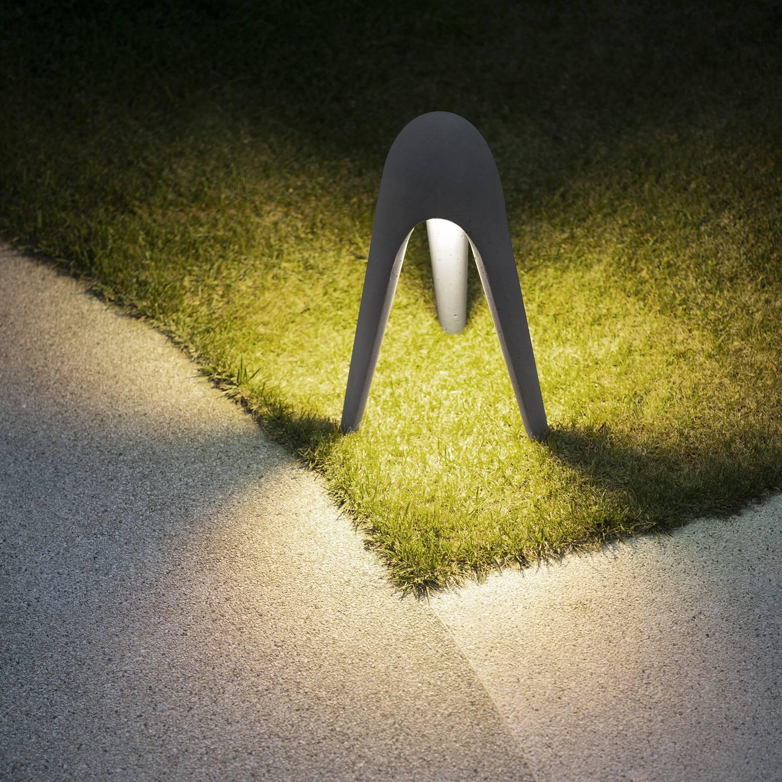Martinelli Luce Cyborg -LED-pylväsvalaisin, harmaa