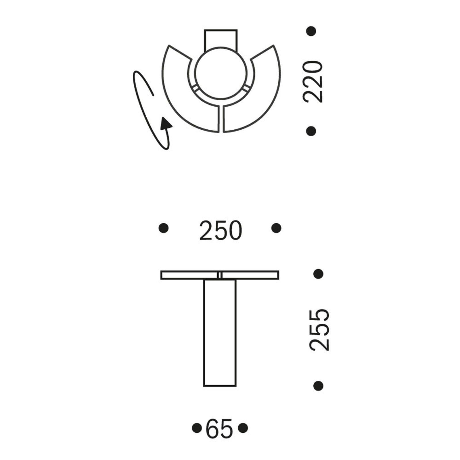 OLIGO Trinity LED-vegglampe, 2 bevegelige segment