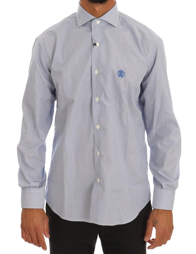 Cavalli Men's Shirt Blue TSH1481 - 40