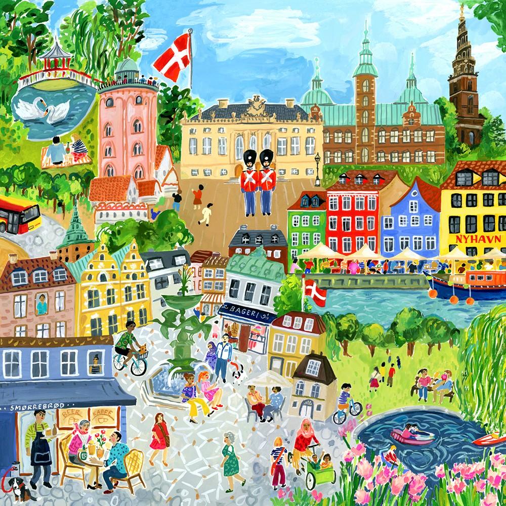 eeBoo - Puzzle - Copenhagen, 1000 pc (EPZTCOP)
