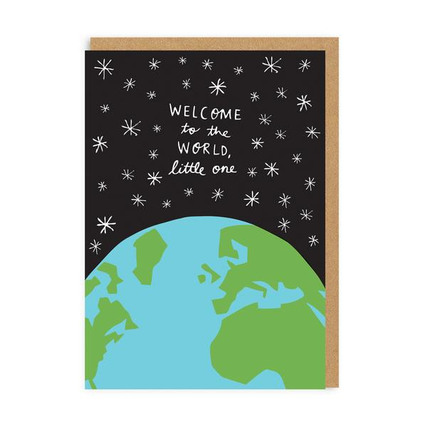 Welcome To The World New Baby Greeting Card