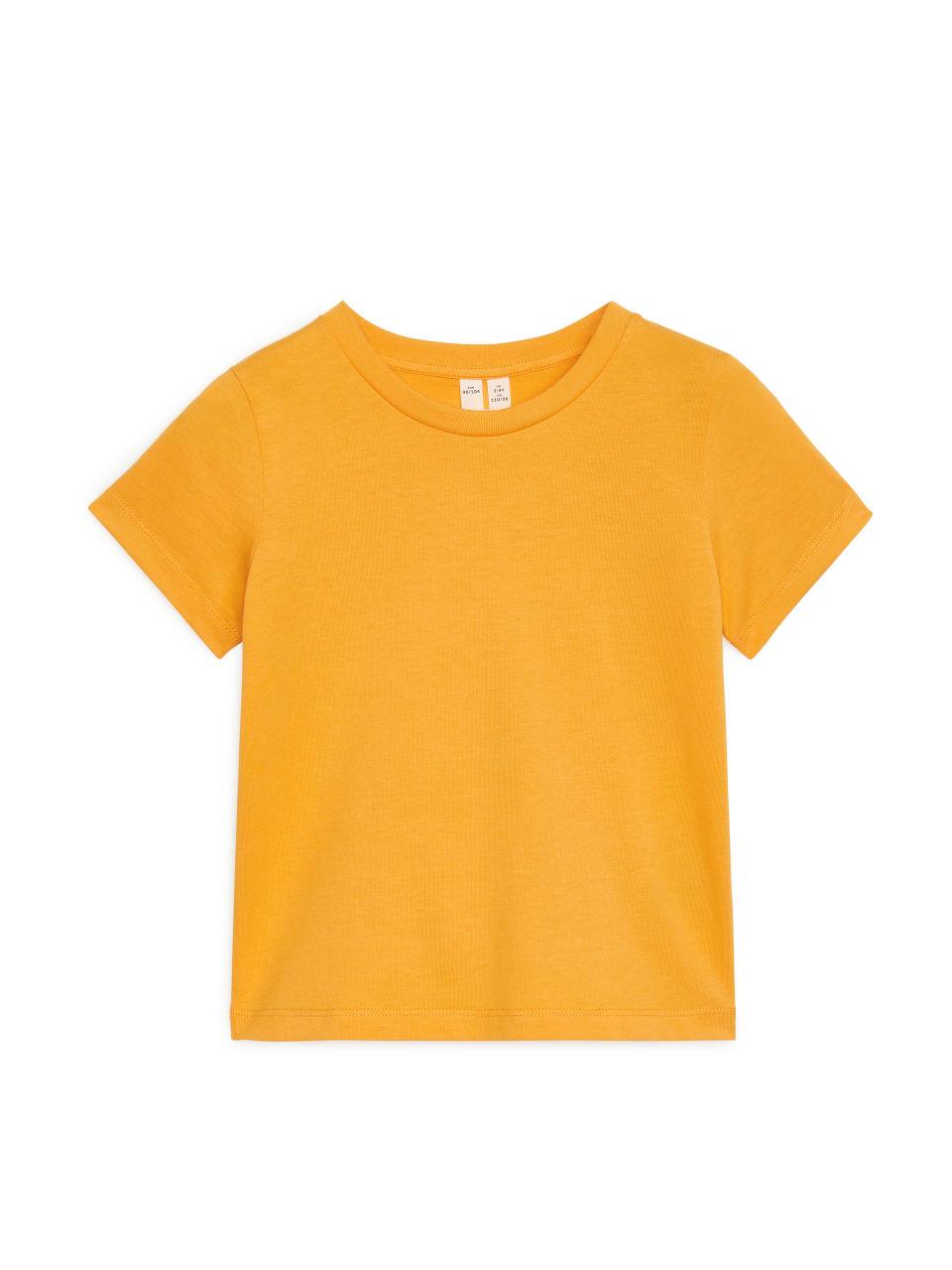 Crew-Neck T-shirt - Yellow