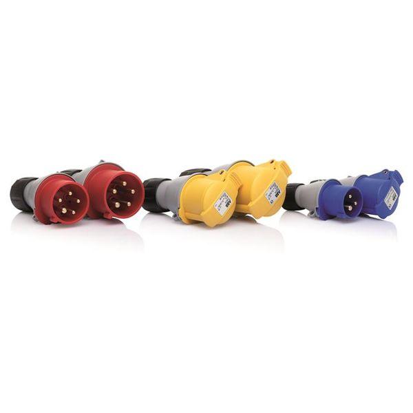 ABB 363P6 Pistotulppa 380–415 V (50+60 Hz) punainen Napojen lukumäärä: 4