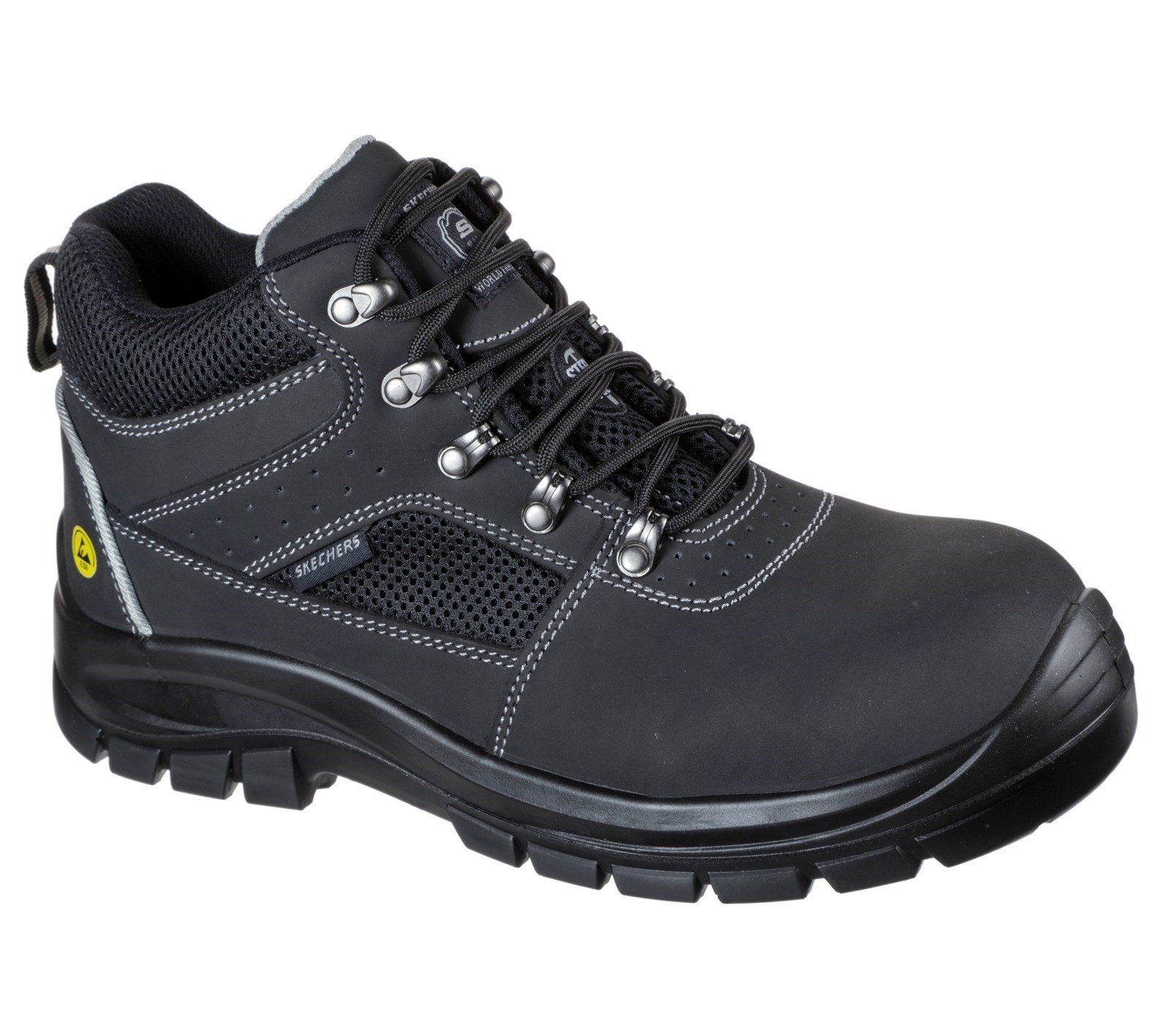 Skechers Unisex Trophus Letic Safety Boot Black 32622 - Black 6