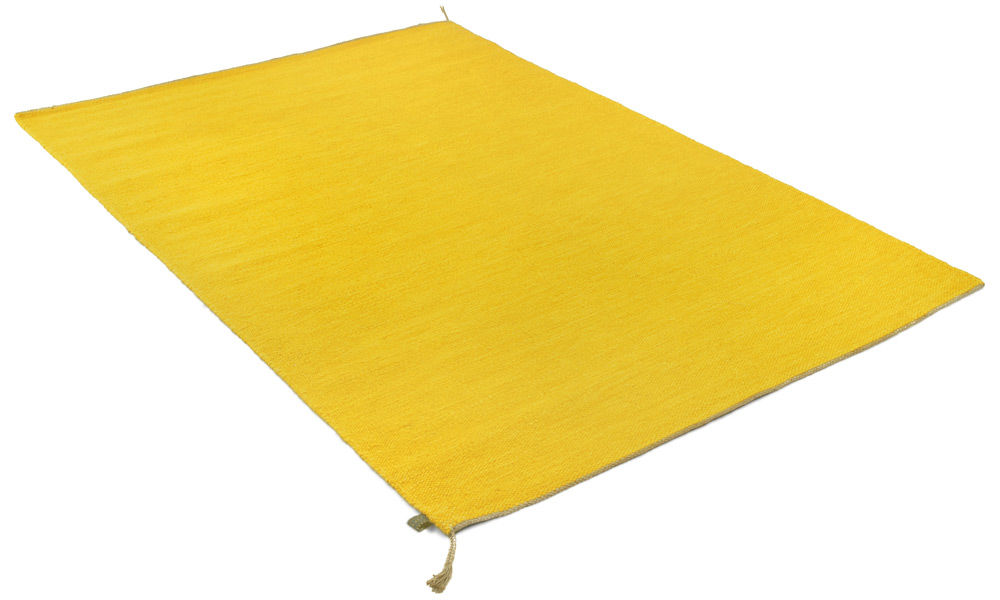 Sofiero gul - håndvevd ullteppe