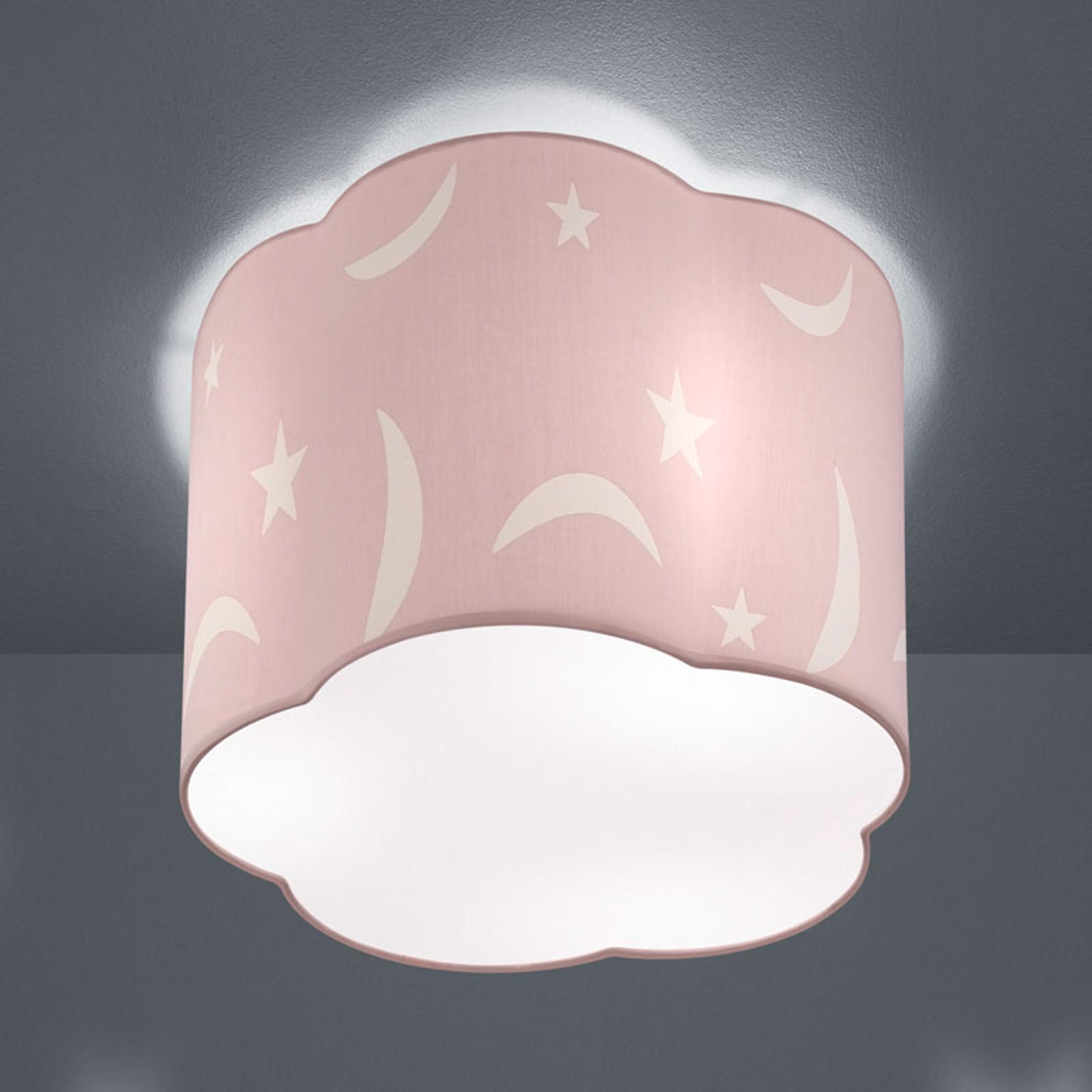 Kattovalaisin Moony 25cm pastellin vaaleanpunainen