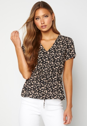 Happy Holly Blake blouse Black / Patterned 52/54