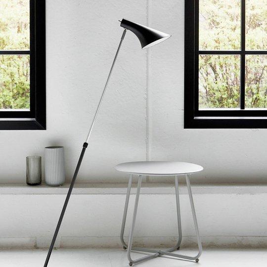 Elegant og fleksibel Liam gulvlampe i svart