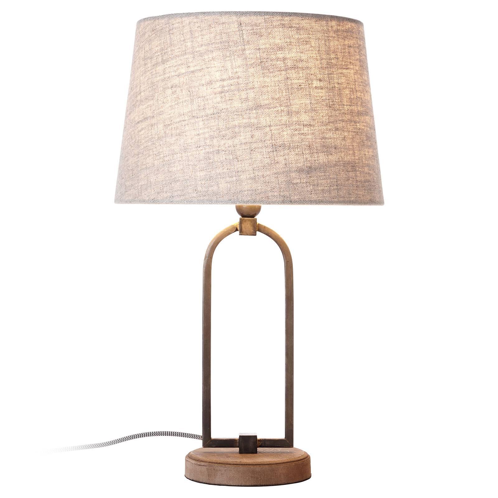 Pöytälamppu Sora, tyylikäs tekstiilivarjostin