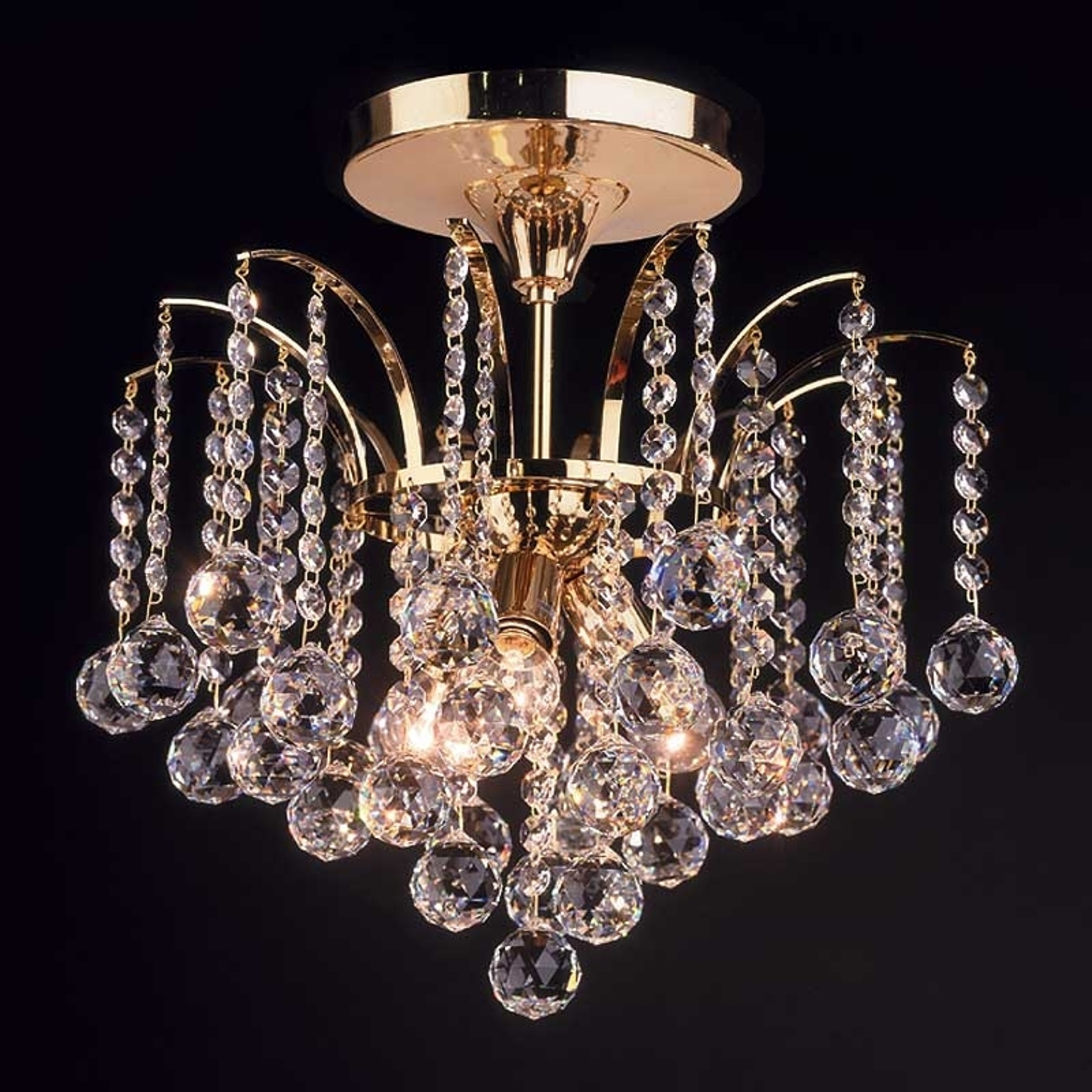 Kattovalaisin LENNARDA, kristalli/kulta 42 cm