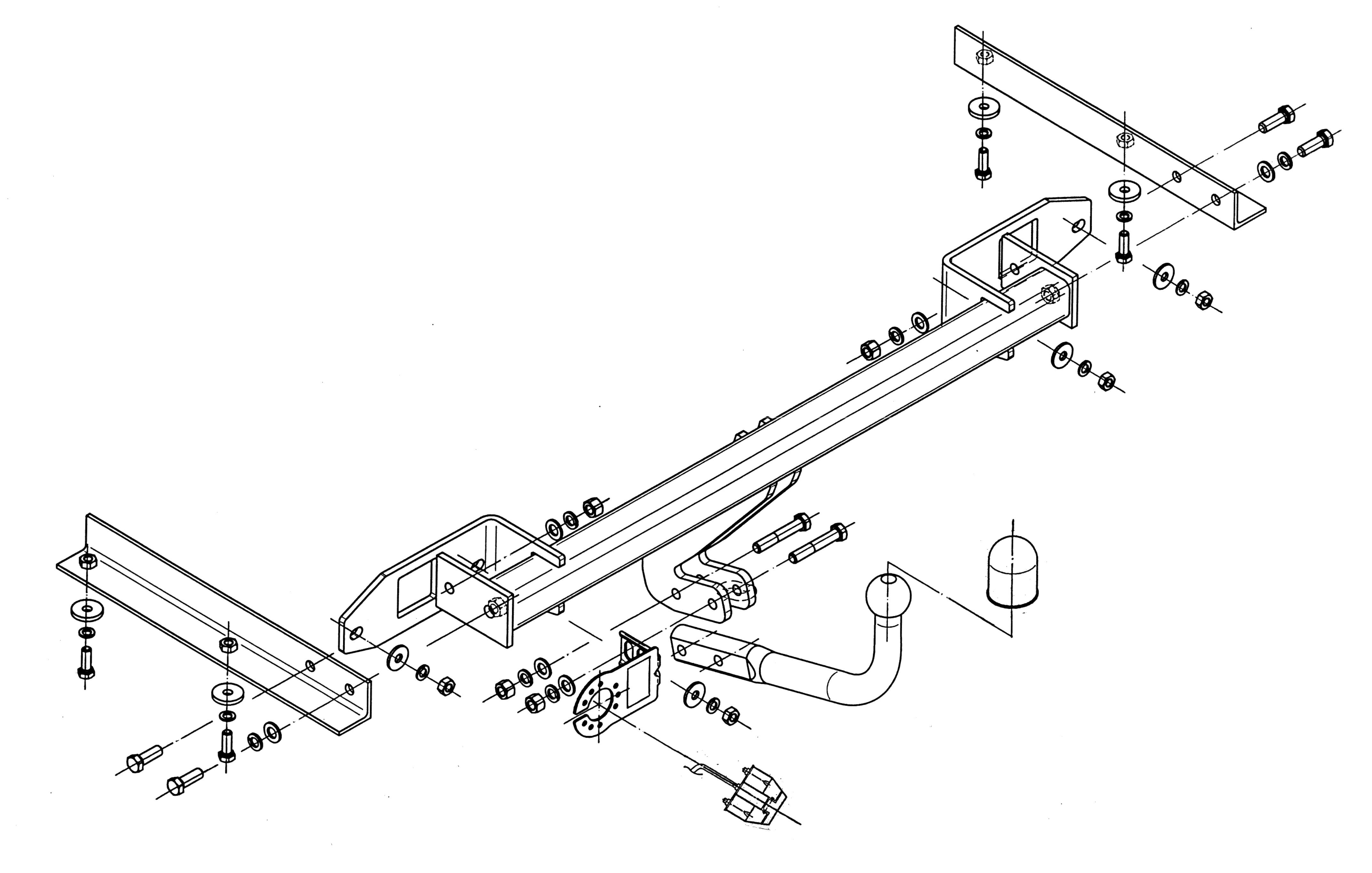 Vetokoukku STEINHOF STO-142 Opel Astra '09-