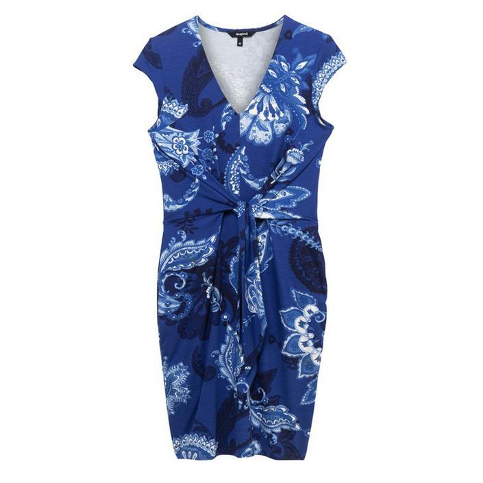 Desigual Women's Dress Blue 203885 - blue M