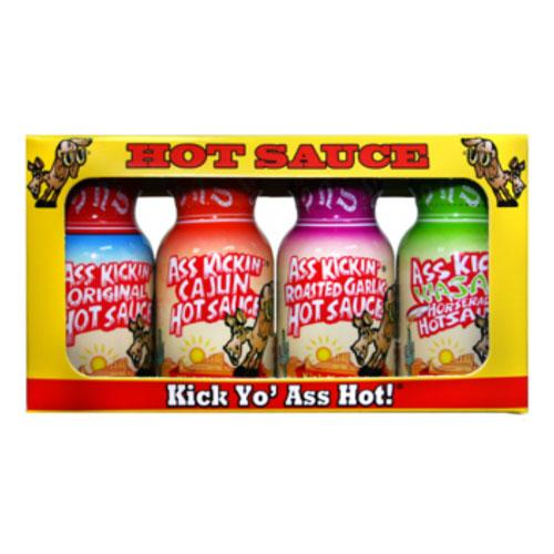 Ass Kickin Hot Sauces Shots - 4-pack