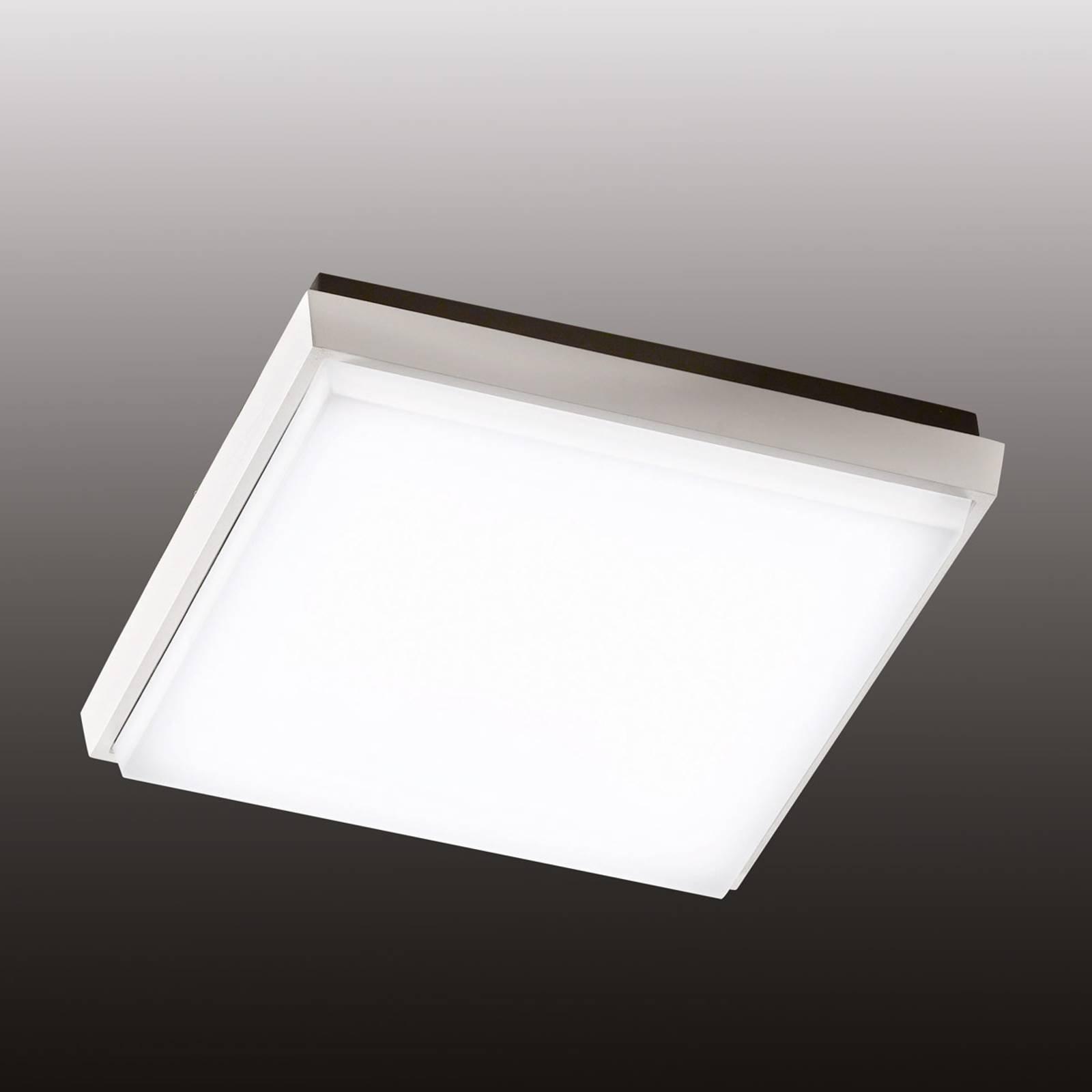 Kvadratisk LED-taklampe Desdy for utendørsbruk