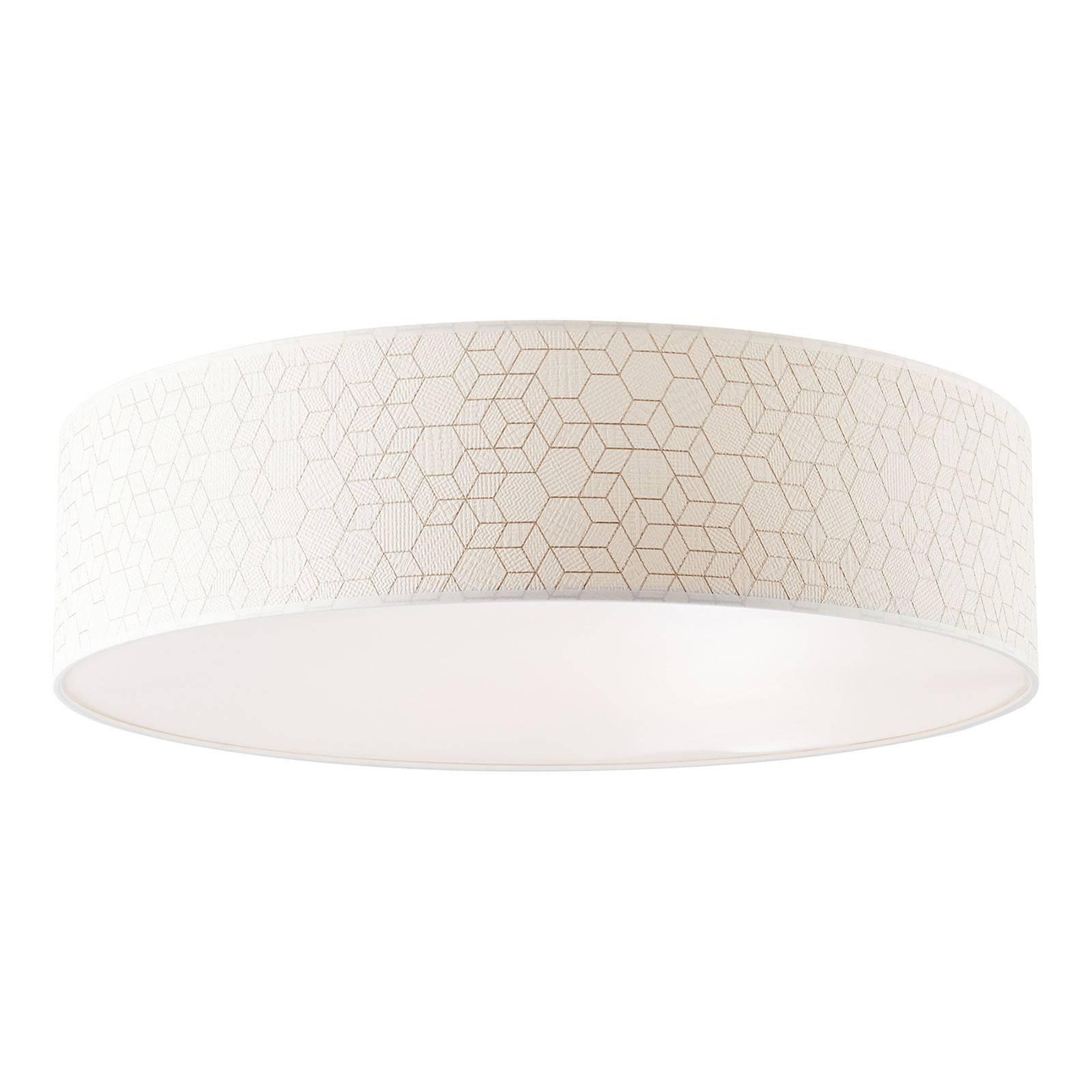 Taklampe Galance, hvit, Ø 58 cm