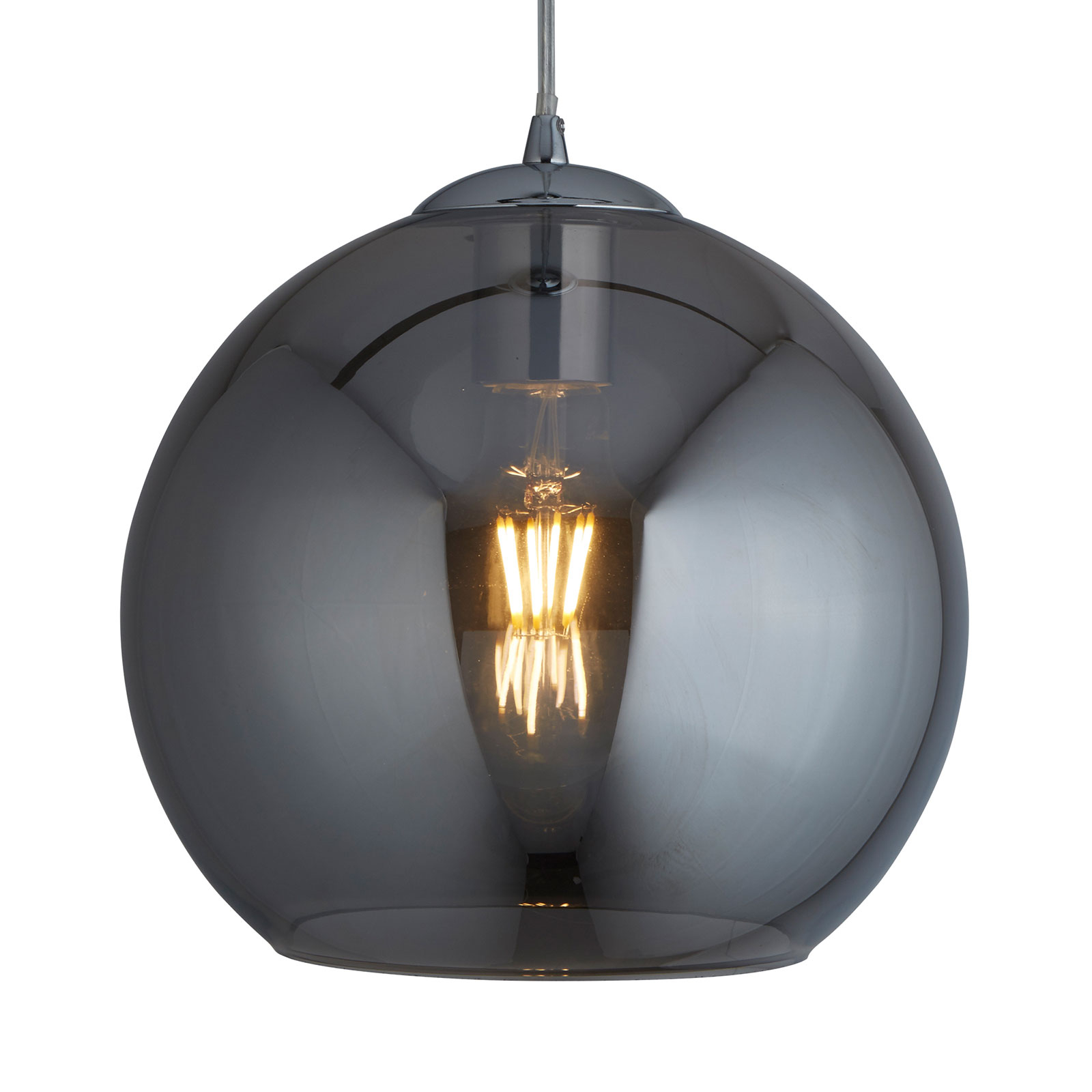 Riippuvalaisin Balls, lasipallo savu, Ø 30 cm