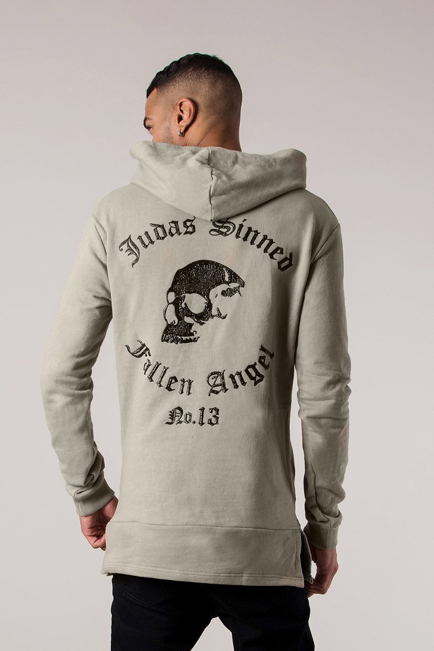 Angel Sniper Men's Hoodie - Taupe, Small