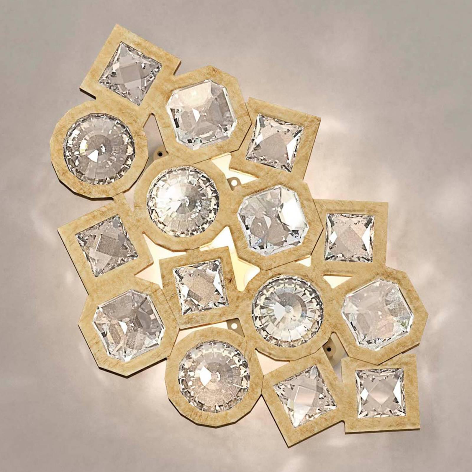 Kimalteleva kristalli-LED-seinävalaisin Stardust