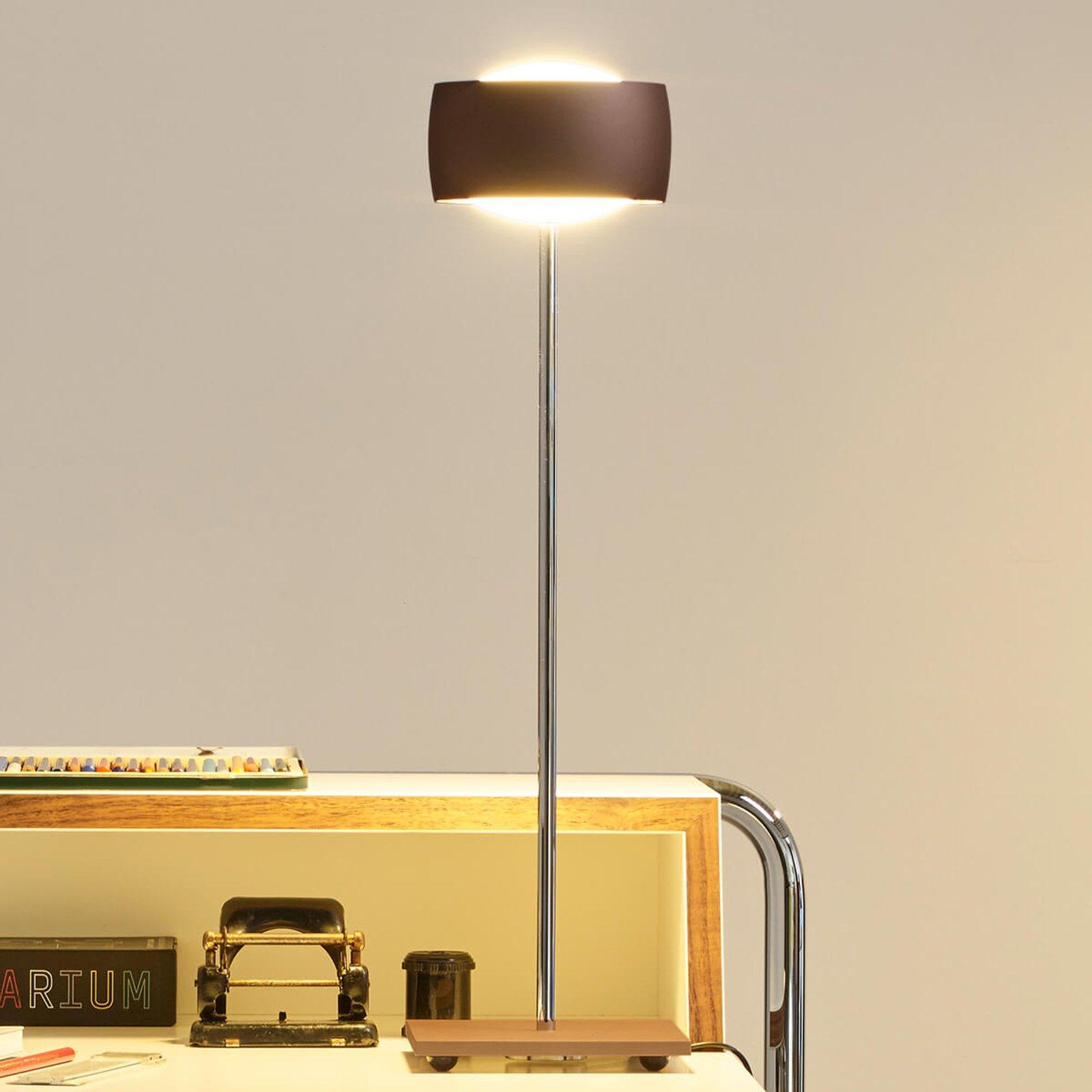 Med bevegelsesstyring – LED-bordlampe Grace brun