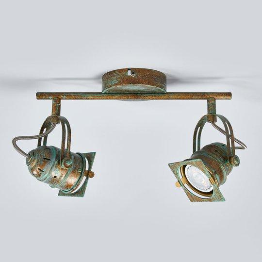 Antiikkimainen LED-kohdevalo Janek, kuparinvihreä