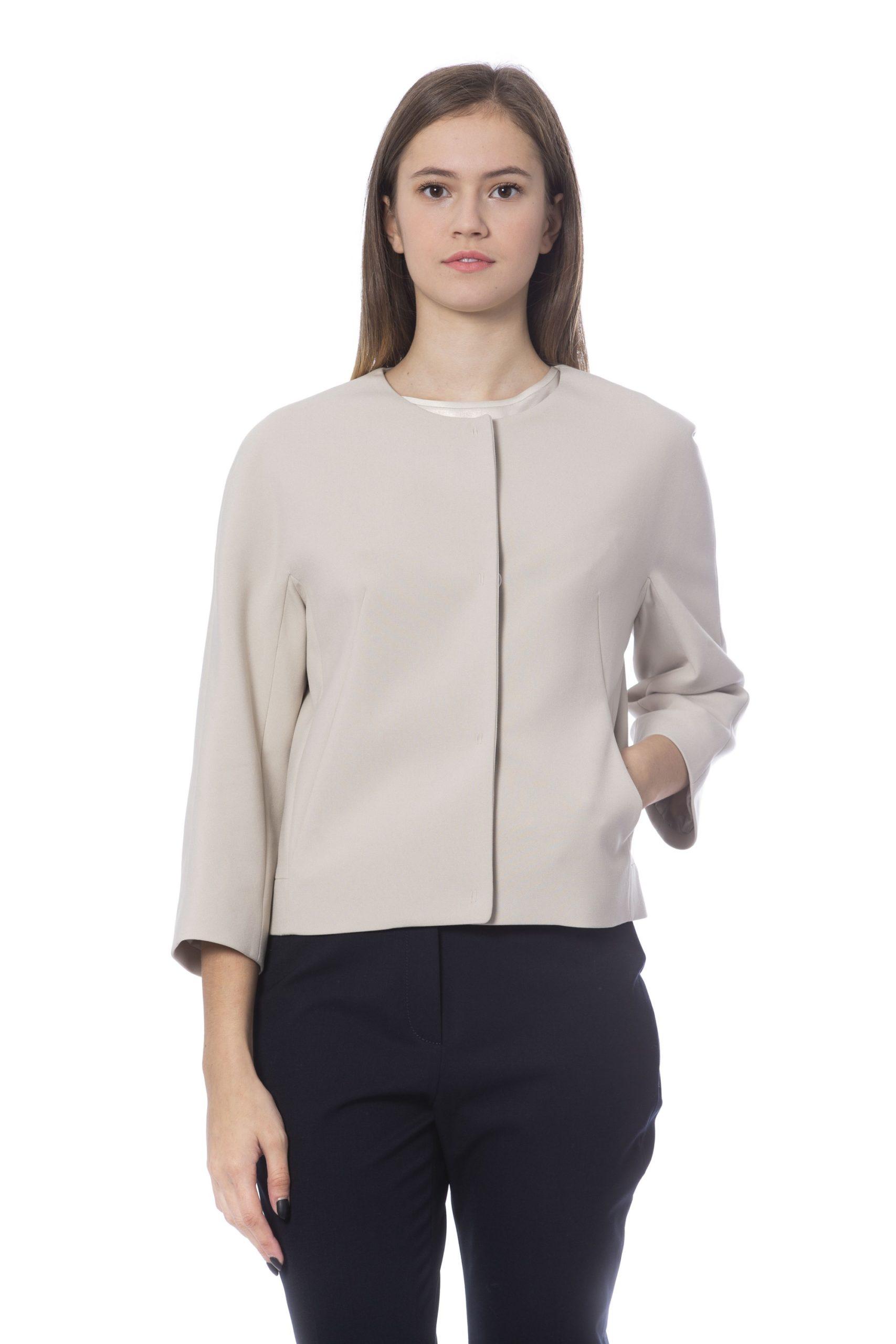 Peserico Women's Jacket Beige PE1272400 - IT42 | S