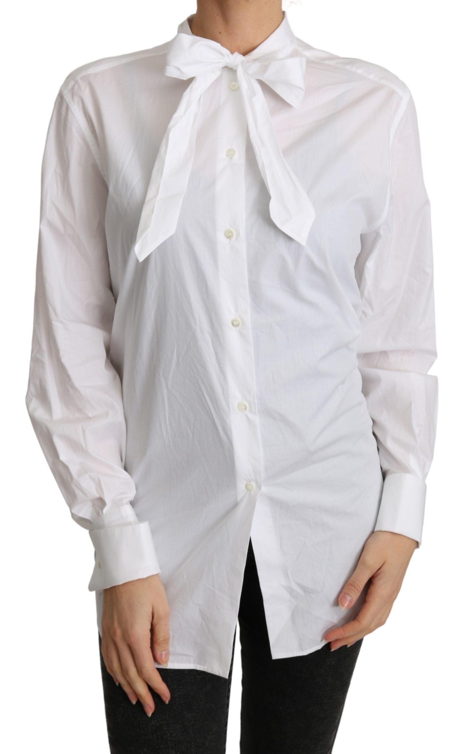 Dolce & Gabbana Women's Scarf Neck Shirts White TSH4830 - IT44|L