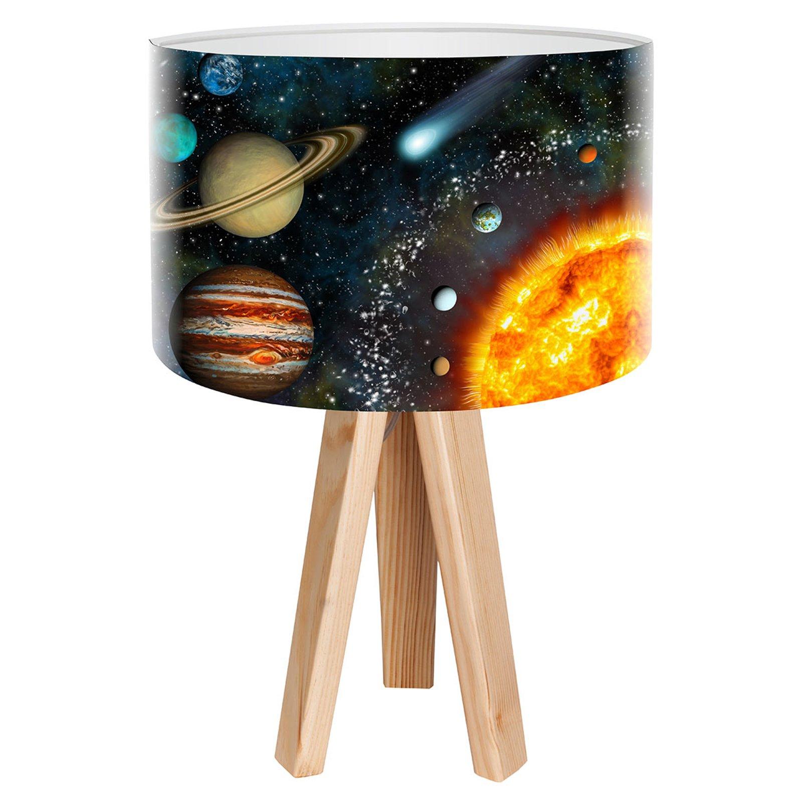 Space bordlampe med realistisk verdensrom-trykk
