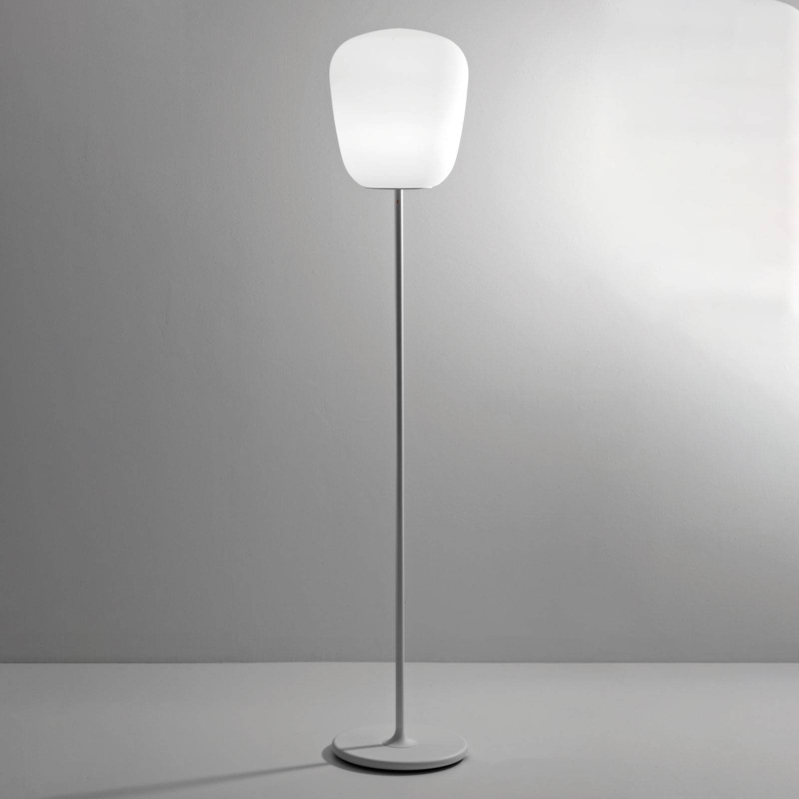 Fabbian Lumi Baka gulvlampe av glass, Ø 33 cm