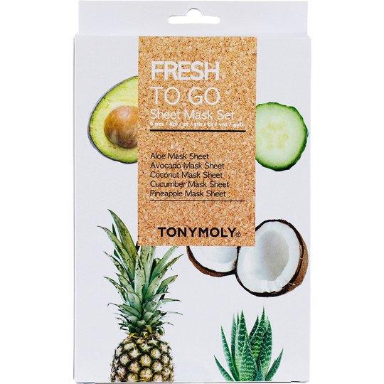 Fresh To Go Sheet Mask Set, 5 pcs Tonymoly Kangasnaamiot