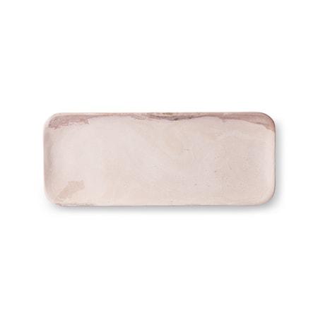 Pink Marmor Bricka