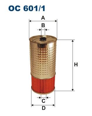 Öljynsuodatin FILTRON OC 601/1