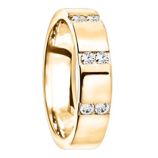 Diamantring i 18K guld, 65
