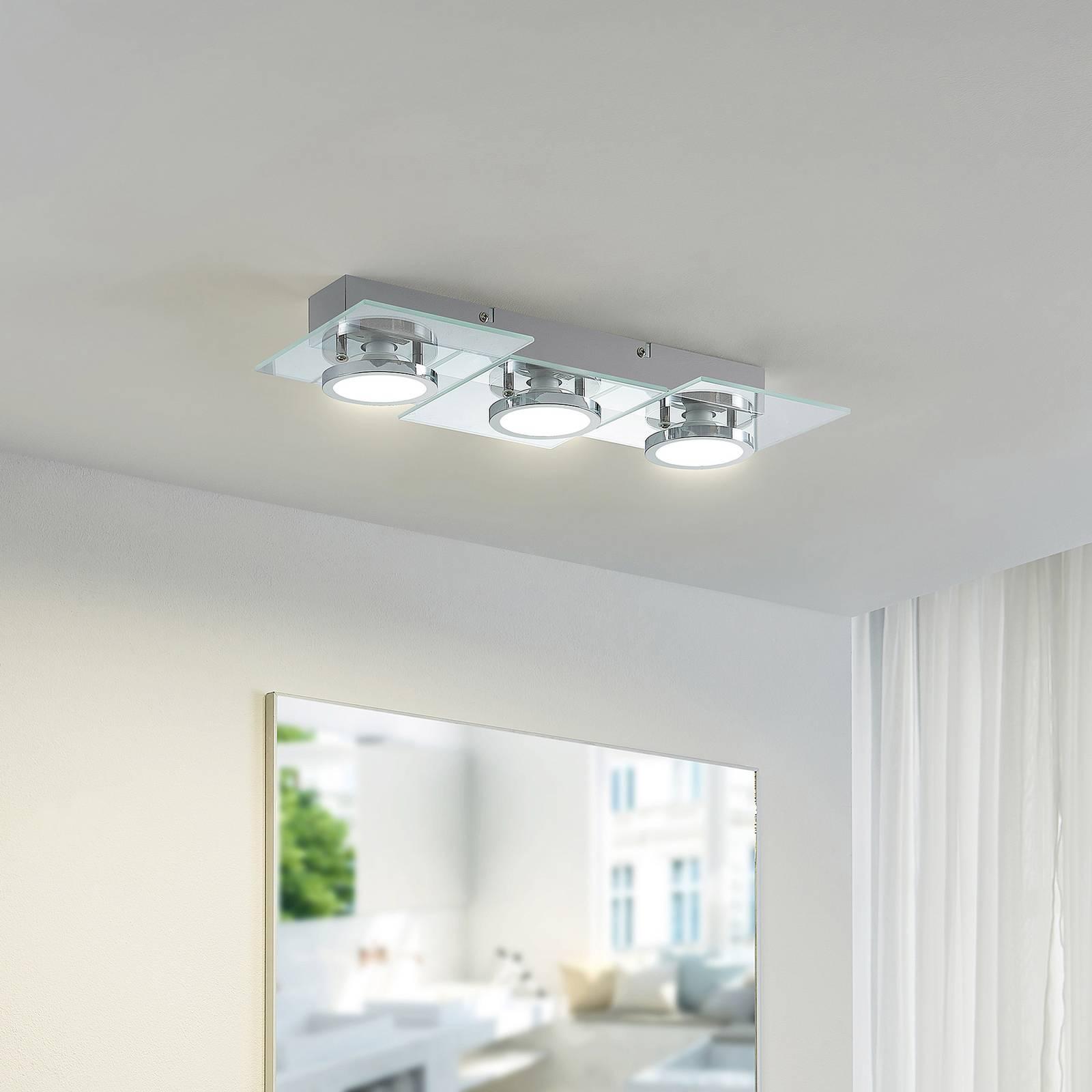 Lindby Imiria -LED-kattovalaisin, 3-lamppuinen