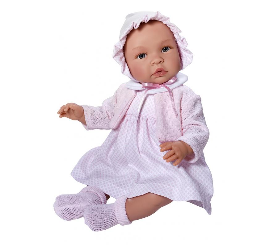 Asi dolls - Leonora doll in white dress, 46 cm