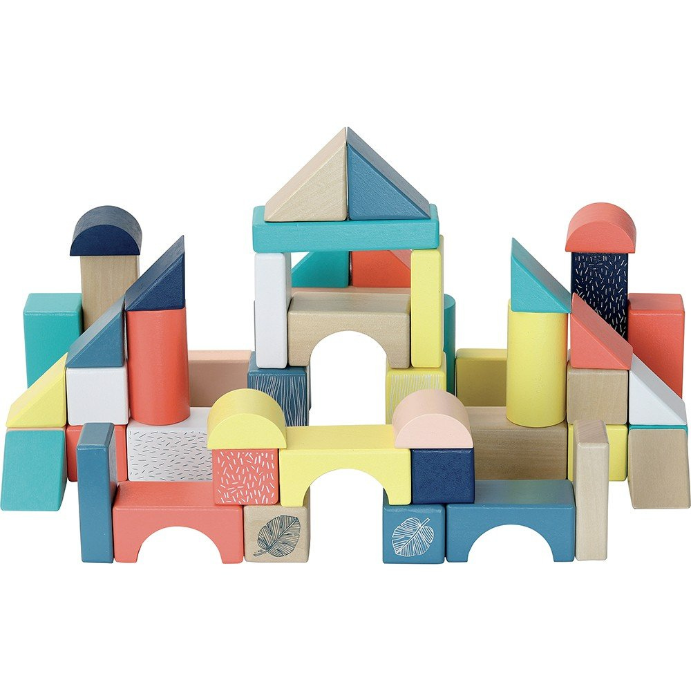 Vilac - 54 pieces wooden blocks in barrel (2121)