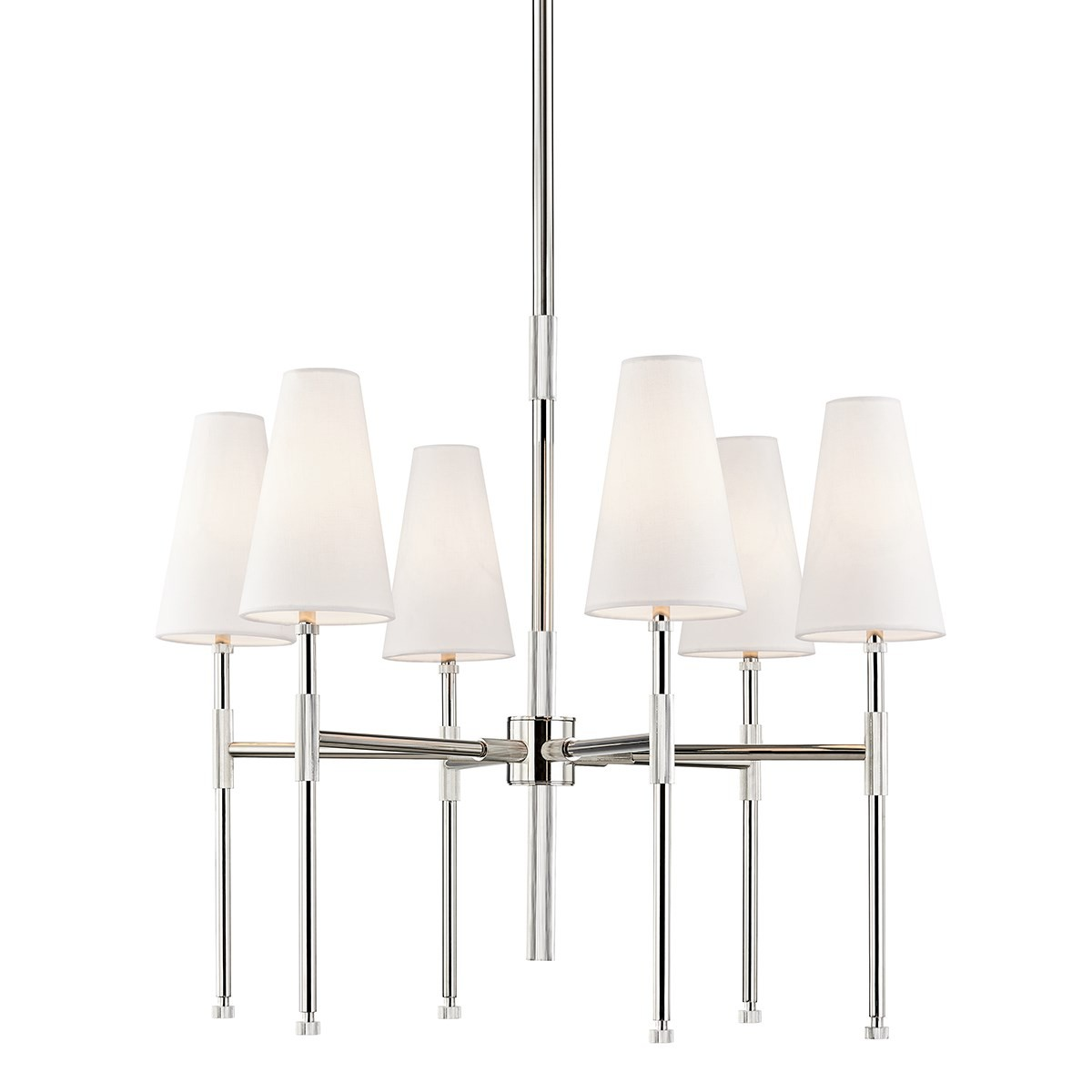 Hudson Valley | Bowery Chandelier | Polished Nickel